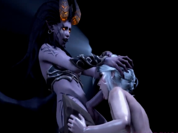 Futa Vampire Seduces Warrior Princess