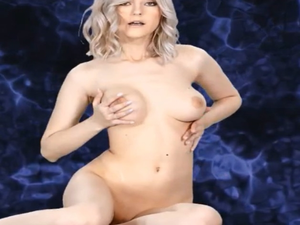 Click dots for blonde stripper