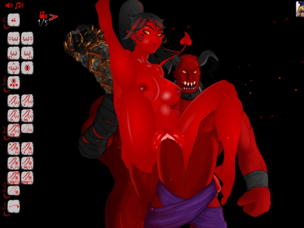 Sexy red Hentai Demon Girl Triple Penetrated