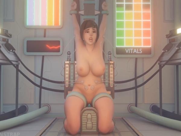 Overwatch Sex Parody Mercy BDSM Sex Experiment On Mei Gets Strange
